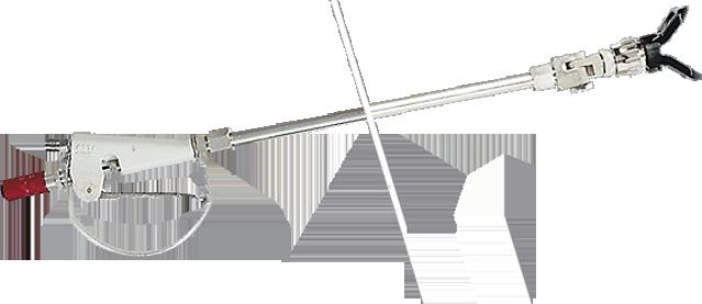 пистолетом-распылителем или удочкой